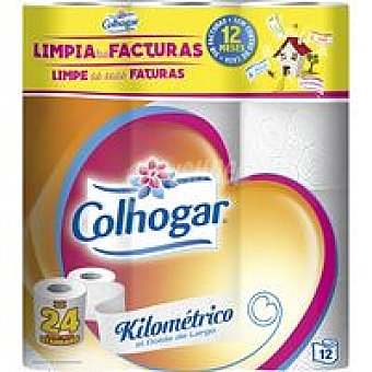 Colhogar Papel higiénico km+2 Paquete 12 rollos