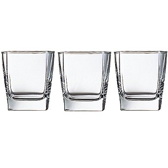 LUMINARC Vasos de vidrio de agua set de 3 unidades 30 cl