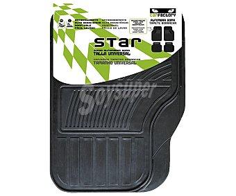 CAR FACTORY Juego de 4 alfombrillas universales de goma de color negro, modelo Star 1 unidad