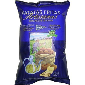 HIPERCOR patatas fritas artesanas con aceite de oliva  bolsa 170 g