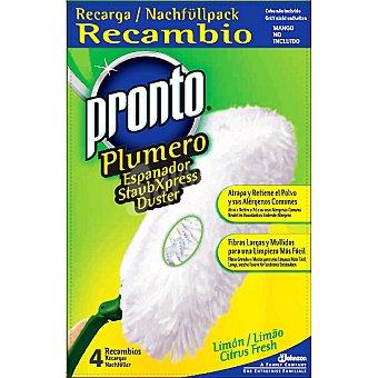 Pronto Plumero atrapa polvo limón recambio 4 unidades