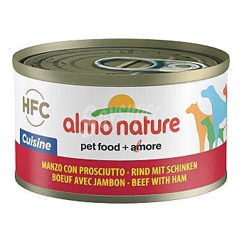 Almo Nature HFC cuisine alimento húmedo para perros adultos con vacuno y jamón Envase 95 g