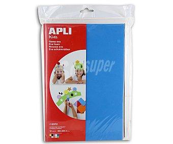 APLI Bolsa de planchas de foam, goma eva de diferentes colores y de tamaño 300x200x2 milímetros 10 unidades