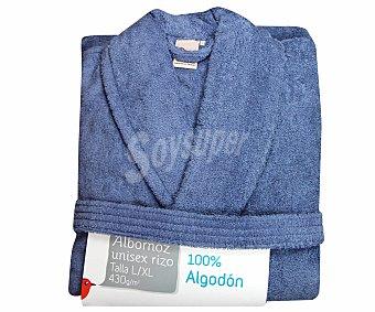 AUCHAN Albornoz de rizo americano color rosa azul talla extra grande 1 Unidad