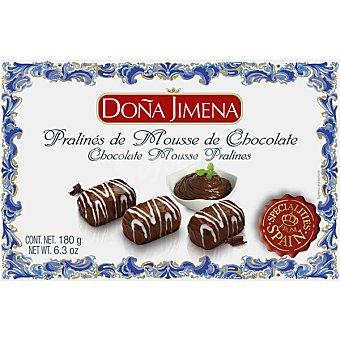 Doña Jimena Pralinés de mousse de chocolate Estuche 180 g