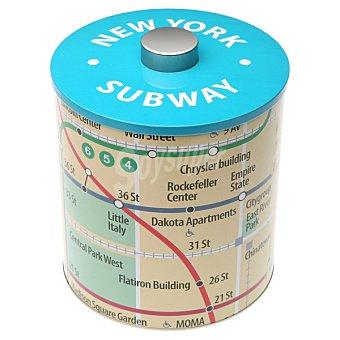 QUO Bote metálico redondo metro Nueva York 1 unidad
