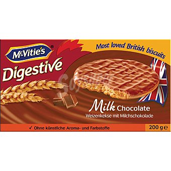 McVities galletas digestive con chocolate con leche paquete 200 g