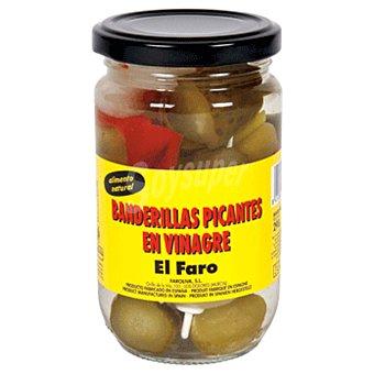 El Faro Banderillas picantes en vinagre Frasco 130 gr