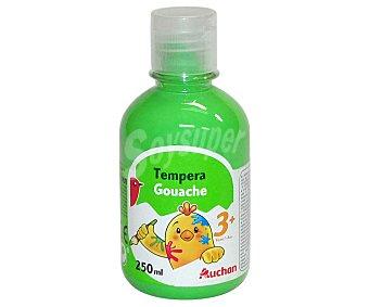 Auchan Botella de 250 mililitros de témpera de color verde AUCHAN 250ml