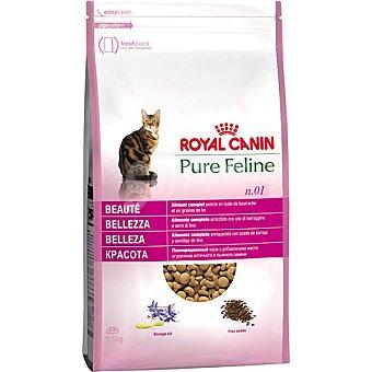 Royal Canin Alimento especial para mejorar la belleza del pelaje del gato adulto Pure Feline Belleza Bolsa 1,5 kg