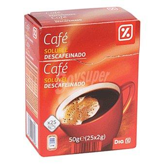 DIA Café soluble descafeinado en sobres Caja 25 uds