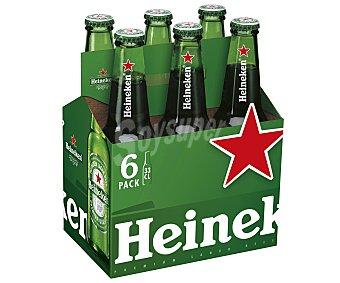 Heineken Cerveza Pack de 6 botellas de 33 centilitros