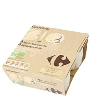 Carrefour Bio Arroz con leche Pack de 4x100 g