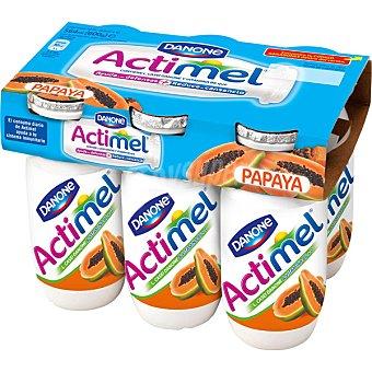 Actimel Danone Yogur líquido con pulpa de papaya Pack 6 unds. 100 g