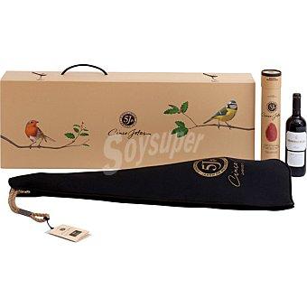Cinco jotas Estuche 2019 jamón de bellota 100% ibérico pieza /2 lomo de bellota 100% ibérico+ vino tinto Montecillo Gran Reserva D.O Rioja 6 kg +1