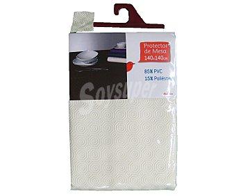 Auchan Protector de mesa, 140x140 centímetros, color blanco 1 Unidad