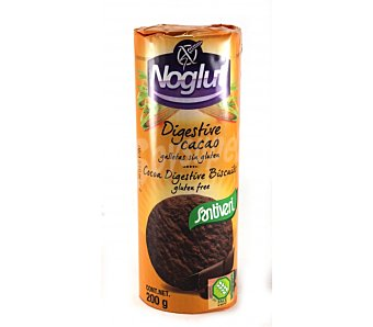 Santiveri Galletas sabor cacao sin gluten Noglut digestive Paquete de 200 g