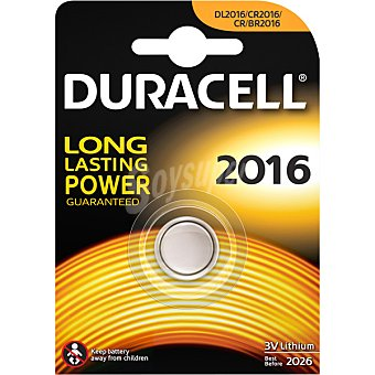 Duracell Pila de botón 3V 2016 blister 1 unidad