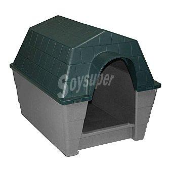 Ribecan Caseta para perros tamaño grande medidas 95x73x5 cm color verde 1 unidad