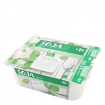 Carrefour Preparado de soja natural Pack de 6 unidades de 100 g