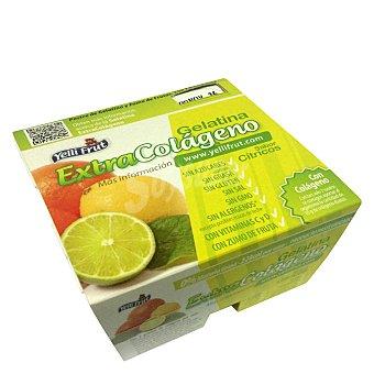 Yelli Frut Gelatina sabor cítricos Pack de 4 unidades de 100 g