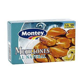 Montey Mejillones al natural 14/18 piezas Lata 69 gr
