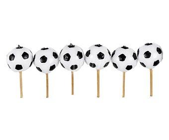 PARTYGRAM Velas palillo con pelota de fútbol 6 unidades