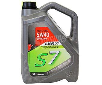 Auchan Lubricante sintético para motores gasolina 5 Litros