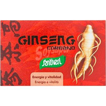 Santiveri Gingseng coreano energía y vitalidad reduce el cansancio y la fatiga física y mental ápsulas envase 40 c