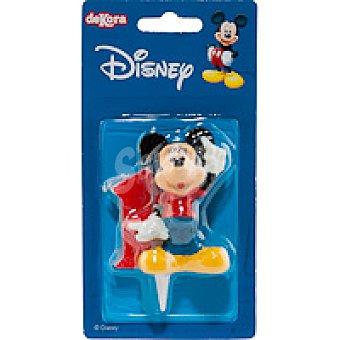 DEKORA Vela familia Disney Nº1 1 unidad
