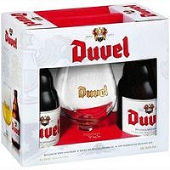 Duvel Cerveza Pack 2x33 cl + Copa