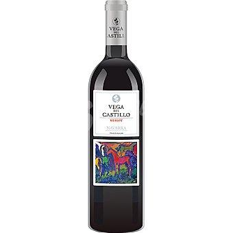 Vega del castillo Vino tinto merlot D.O. Navarra Botella 75 cl