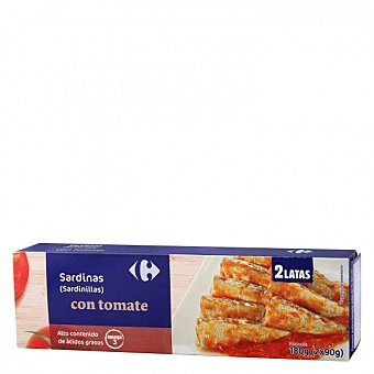 Carrefour Sardinillas con tomate Pack de 2 unidades de 59 g