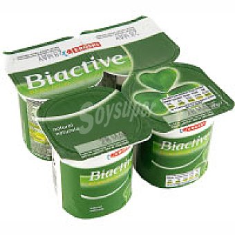 Eroski Biactive natural Pack 4x125 g