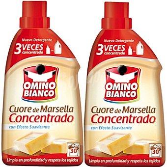 Omino Bianco Detergente máquina líquido concentrado Marsella con efecto suavizante Pack 2 botella 30 dosis