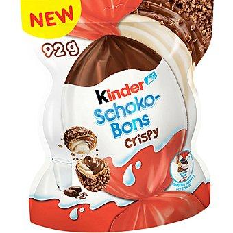 Schoko Kinder -bons Crispy huevos de chocolate rellenos de leche y avellanas crujientes Bolsa 92 g