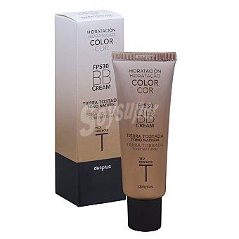 Deliplus Crema facial bb hidratante con color fps 30 tono tierra tostada Tubo 50 ml