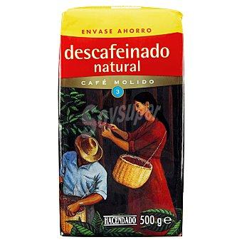 Hacendado Cafe molido descafeinado natural Nº 3 Paquete 500 g