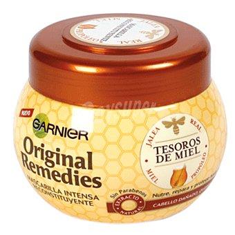 ORIGINAL REMEDIES Mascarilla reconstitución intensa tesoros de miel para cabello dañado y quebradizo Tarro de 300 ml