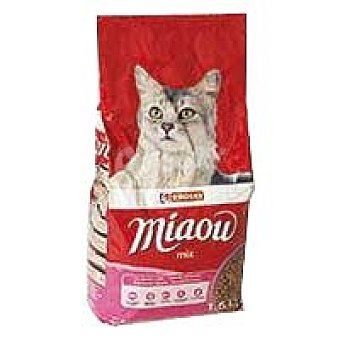 Eroski Alimento de atún-verdura-salmón Miaow 1,5 kg