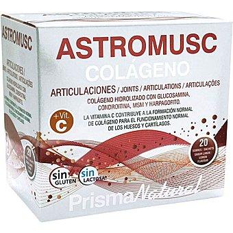 Prisma natural Astromusc Colágeno contribuye al funcionamiento normal de huesos y articulaciones envase 20 sobres sin gluten y sin lactosa