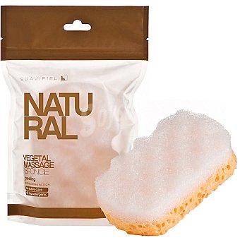 Suavipiel Esponja de baño Natural vegetal accion exfoliante bolsa 1 unidad Bolsa 1 unidad