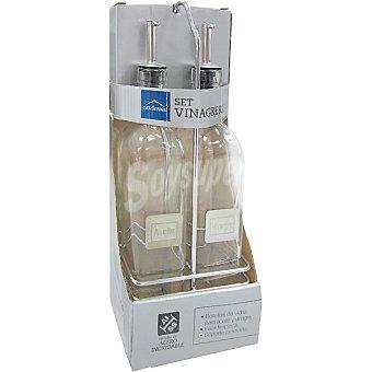 CASACTUAL Vinagreras de cristal set de 2 unidades 2 unidades