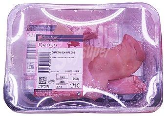 VARIOS Cerdo careta sin oreja fresco (media pieza) Unidad 400 gr