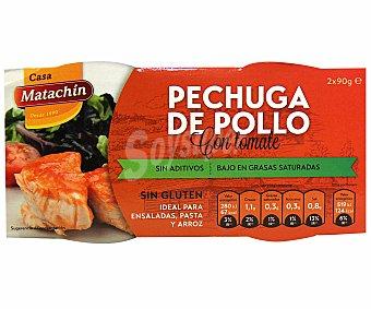 MATACHÍN Pechuga de pollo en tomate sin gluten 116 gramos
