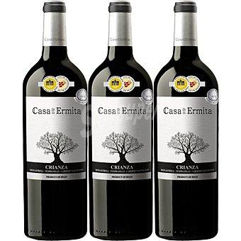 Casa de la Ermita Vino tinto crianza D.O. Jumilla Estuche de cartón 3 botellas 75 cl