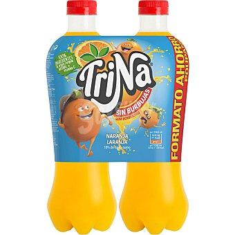 Trina Refresco de naranja sin burbujas Pack 2 botellas 1,5 l