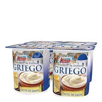 Kalise Yogur griego con pastel de limón Pack 4 unidades 125 g