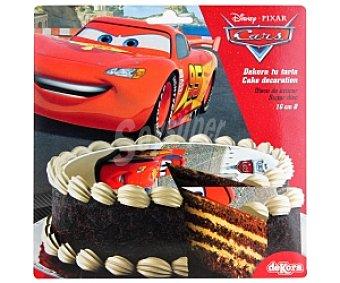 CARS Disco de azúcar 16cm, decoración de postres 25 Gramos