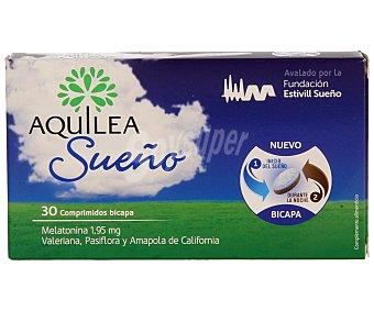 Aquilea Sueño comprimidos bicapa con acción relajante con valeriana, pasiflora y amapola de California Caja 30 pastillas